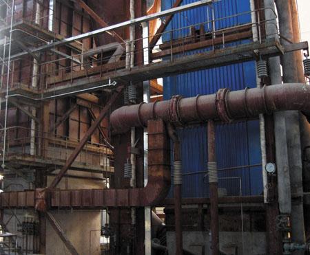 甘肅銀光化學工業集團35噸鍋爐安裝