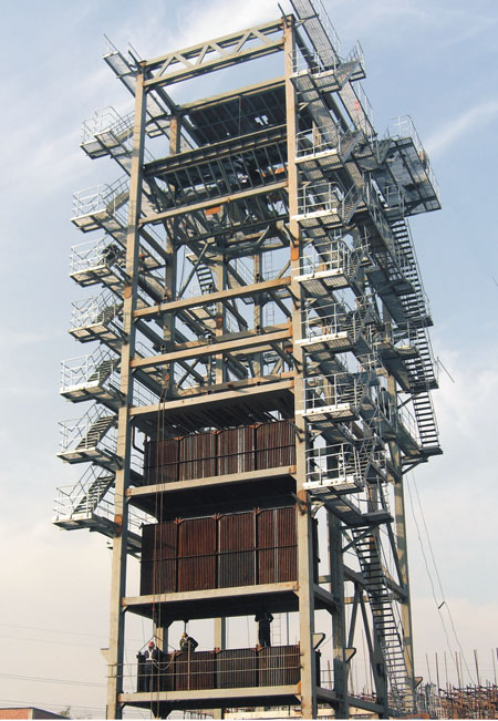 江河紙業75噸鍋爐移裝
